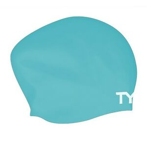 TYR Long Hair Wrinkle-Free Silicone Swim Cap - 2021