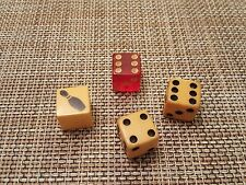 """Vintage Pair 2 Butterscotch 1 Red and 1bowling ball Bakelite Dice 5/8"""""""