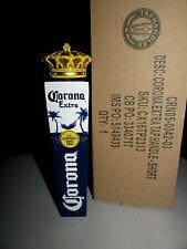 "NIB 7"" Corona Extra Crown 3 sided cerveza Import Beer Tap Handle Lot Kegerator"