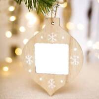 DIY Wooden Photo Frame Picture Holder Frame Xmas Tree Ornaments Gift Home Decor.