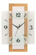 Ams -funkuhr Hêtre 40cm- 5507 Horloge Murale de Style Contemporain avec