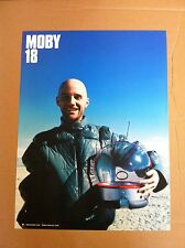 MOBY Retail 2002 PROMO POSTER for 18 CD US 24x18 MINT DOUBLE SIDED Never Display