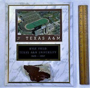 """VINTAGE KYLE FIELD TEXAS A&M UNIVERSITY 1929 - 1997 13"""" PLAQUE 4"""" HISTORIC PIECE"""