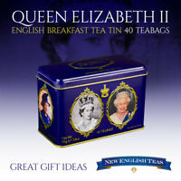 Queen Elizabeth II English Breakfast Tea Tin 40 Teabags