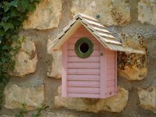 NEW ENGLAND BIRD NEST BOX PINK Wildlife World Gift Handmade |FREE Fast Delivery!