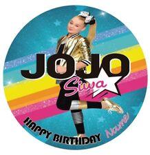 Jojo Siwa Edible Image Birthday Party Cake Topper 19cm Round