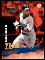 2003 Donruss Champions Team Colors Derek Jeter New York Yankees #TC-26