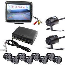 "Car Rear View Kit Reversing Front Park Camera+6 Parking Sensors+3.5"" LCD Monitor"