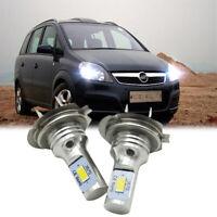 2X H7 LED AUTO Scheinwerfer BIRNEN Kit ABBLENDLICHT 6000K für Opel Zafira A B