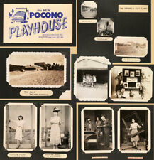 POCONO PLAYHOUSE MOUNTAINHOME PA - 1947 Rowena Stevens Original Photo Scrapbook