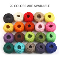 50m/Roll Color Hessian Jute Rope Cord Twisted DIY Crafts Gift Pack Decor