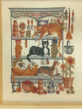 """DMC Counted Cross Stitch """"CATS"""" Playing in Flower Garden Cupboard Kit # XC0391-A"""