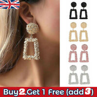 Fashion Punk Gold Metal Dangle Earrings Jewelry Geometric Big Drop Earrings
