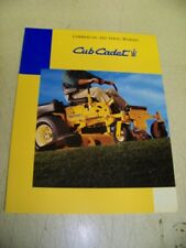 Cub Cadet Commercial 360 Zero Turn Mower Brochure IH International Harvester 99