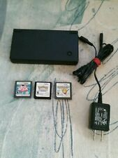 Nintendo DSI Black Handheld System With Pokemon White Version Bundle Games