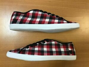 Gola Quell Men's Canvas Trainers Lace Up Checkered Shoes CMA577RR Red UK Size 8