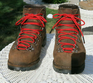 Vasque Hiking Mountaineering Brown Leather Vintage Boots Mens size 13 D