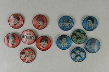Lot of 12 Red & Blue John Paul Ringo George Beatles Vari-Vue Flicker Button Pins