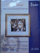 ANCHOR COUNTED CROSS STITCH KIT - KITTENS