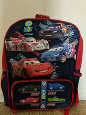 Disney Cars 2 McQueen Grand Prix Large Backpack Bag