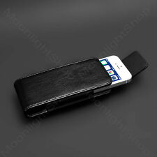 Premium PU LEATHER CASE BELT CLIP  CARRYING HOLSTER POUCH FOR APPLE IPHONE 5,5S