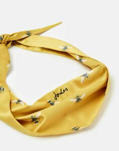 Joules Gold Bee Print Neckerchief  Pet Accessory Dog Collar - Yellow