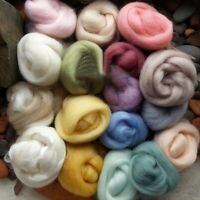 17 Colors Merino Wool Soft Fibre Roving Set For Needle Felting Hand Spinning DIY