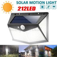 212 LED Lampada Solare da Parete Luce da Esterno IP65 Con Sensore di Movimento