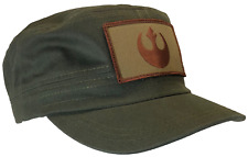 Star Wars Hat Rebel 100% OD Green Cotton Fatigue Castro Style Cap TAN EMBLEM