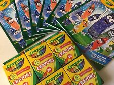 6 x CRAYOLA 24 Ct Box Crayons and coloring books daycare school group activities