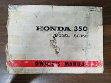 Used Honda SL350 Owners Manual OMB3
