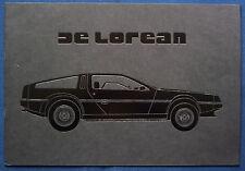 PROSPEKT BROCHURE ORIGINALE 1981 DeLorean (USA) NOS