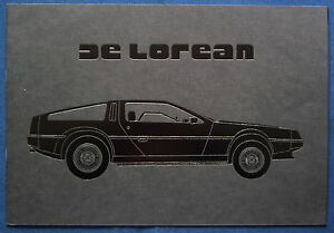 Prestige Prospekt brochure 1981 DeLorean (USA)