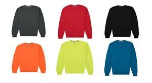 Fruit Of The Loom Men's Fleece Crewneck Sweatshirt Pullover Sizes + Colors