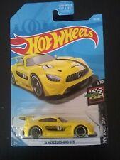 2019 Hot Wheels #74 Hw Race Day 1/10 '16 Mercedes-Amg Gt3 Yellow w/Black Pr5 Sp