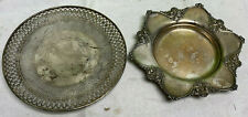 """lot 2 9"""" Sterling Silver plates platters tray Bailey Banks & Biddle"""