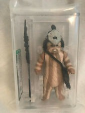 Vintage Star Wars Action Figure Ewok Logray with Weapon Sealed AFA85 NM+