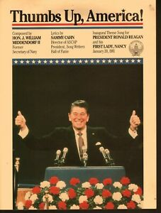 Thumbs Up America Ronald Reagan Sheet Music