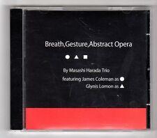 (GZ724) Masashi Harada Trio, Breath, Gesture, Abstract Opera - 2010 CD