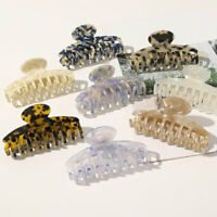 Large Leopard Print Acetate Hair Claws Acrylic Hollow Hair Clip Clamps Hairpins