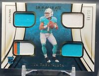2020 Panini Immaculate Tua Tagovailoa Rookie Quad Patch Jersey RC #31/49 SHARP