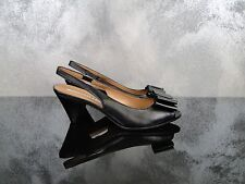 FRATELLI ROSSETTI SANDALO CHANEL OPENTOE PELLE DONNA WOMAN SHOES BLACK NERO 37