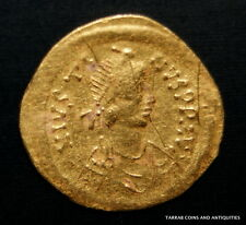 ANCIENT BYZANTINE GOLD COIN SEMISSIS!!!  JUSTINUS I. 518-527 AD!!! NICE !!!