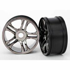 Traxxas XO-1 Wheels, split-spoke (black chrome) (rear) (2) TRA6476