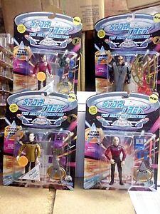 Playmates Star Trek The Next Generation Set Figures Picard Data Wesley & Gowron