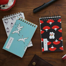 """""""Japanese Cat Pocket"""" 1pc Small Diary Notebook Spiral Memo Journal Grid Freenote"""