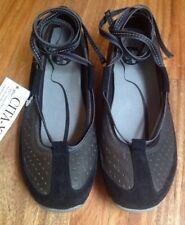 New Merrell Valencia Sz 6 Black Ballet Ankle Wrap Comfort Flats