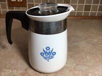 Vintage Corning Ware Stove Top Pot 4 Cup Cornflower Blue ( NO INSIDE PARTS )