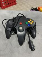 Nintendo 64 N64 Controller - all Black AUTHENTIC | OFFICIAL | TESTED! Refurb