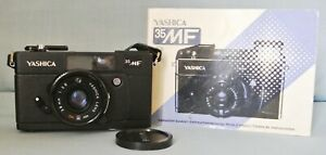 YASHICA 35MF COMPACT CAMERA WITH 38MM 2.8 LENS AND INSTRUCTIONS - SPARES/REPAIR.